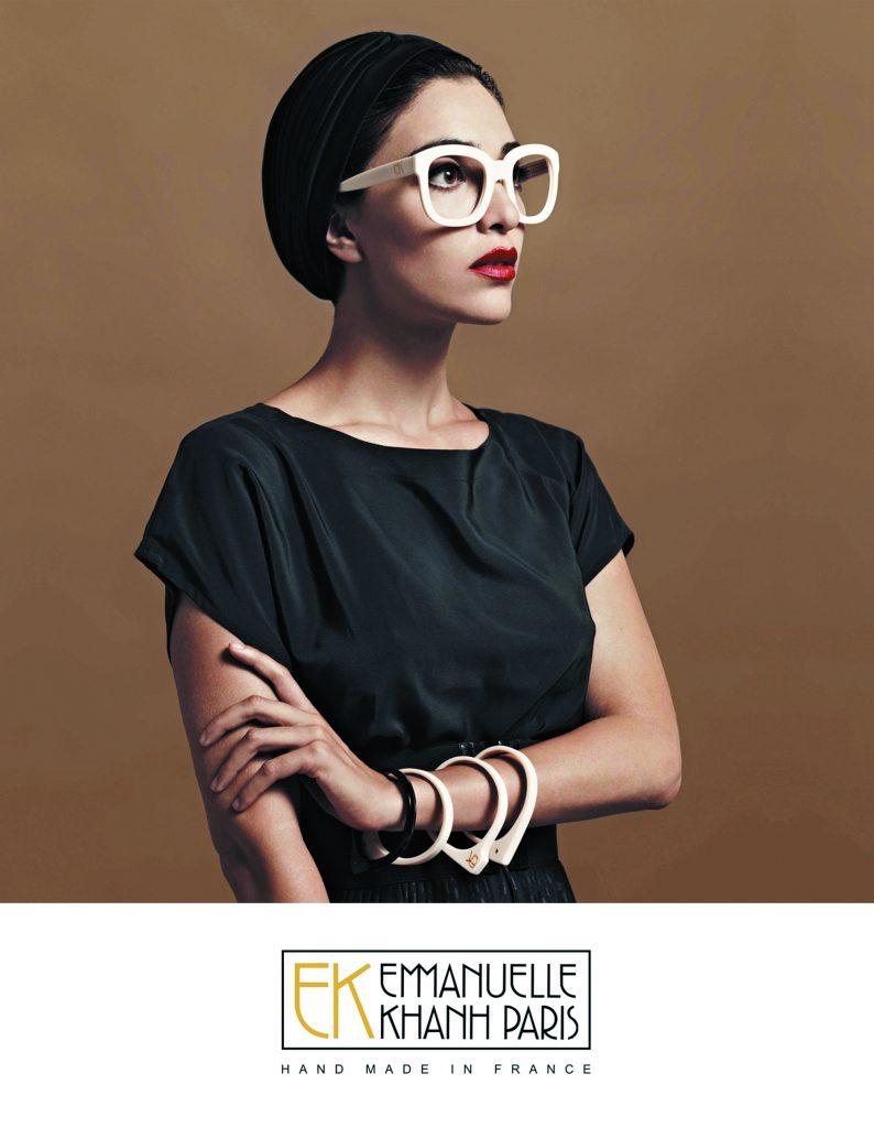 Emmanuelle Khanh couple lunettes tendances montures